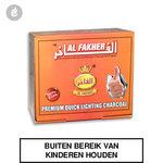 Al Fakher Charcoal waterpijp kooltjes 33mm doos 100 stuks.jpg