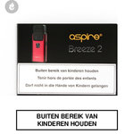 aspire breeze 2 e-sigaret pocket e-smoker rood