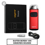 aspire breeze pocket aio e-sigaret starterskit 650mah rood