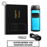 aspire breeze pocket aio e-sigaret starterskit 650mah blauw