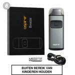 aspire breeze pocket aio e-sigaret starterskit 650mah grijs