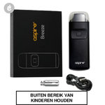 aspire breeze pocket aio e-sigaret starterskit 650mah zwart