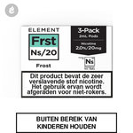 element nic salts pods ns 20mg 3x2ml frost