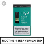 migo pods 1.3ml 2 stuks nic salt nicotinezout e-liquid 20mg nicotine euka menthol