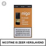 migo pods 1.3ml 2 stuks nic salt nicotinezout e-liquid 20mg nicotine almond tobacco