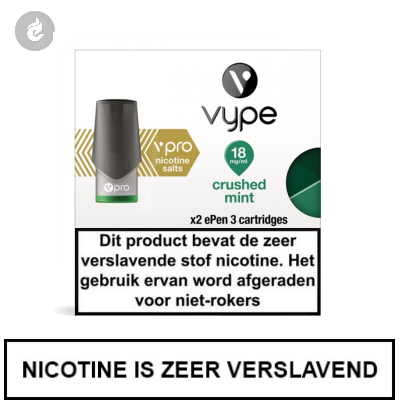 VYPE ePen 3 NIC SALT PODS Crushed Mint 18mg Nicotine 2ml