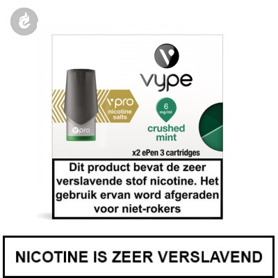 VYPE ePen 3 NIC SALT PODS Crushed Mint 6mg Nicotine 2ml