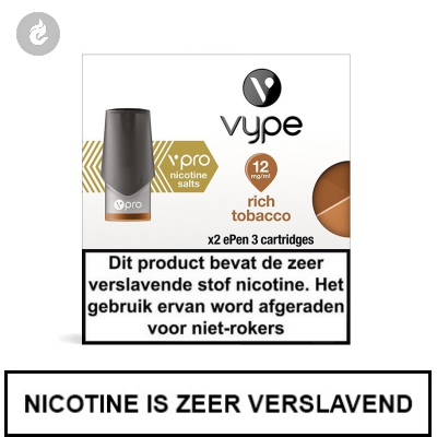 VYPE ePen 3 NIC SALT PODS Rich Tobacco 12mg Nicotine 2ml