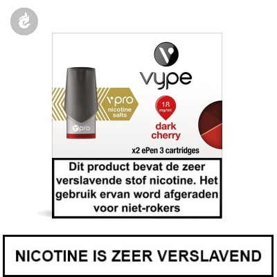 VYPE NIC SALT PODS Dark Cherry 18mg Nicotine 2ml