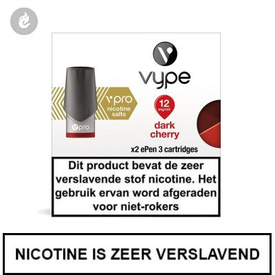 VYPE NIC SALT PODS Dark Cherry 12mg Nicotine 2ml