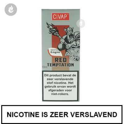 CIVAP e-Liquid Red Temptation / Rode Appel met Kaneel 6mg Nicotine