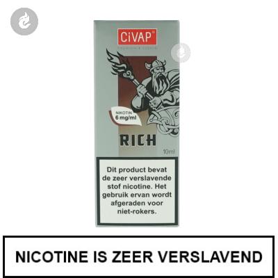 CIVAP e-Liquid Rich / Sigaar Dominicaanse Republiek 6mg Nicotine