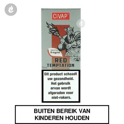 CIVAP e-Liquid Red Temptation / Rode Appel met Kaneel Nicotinevrij