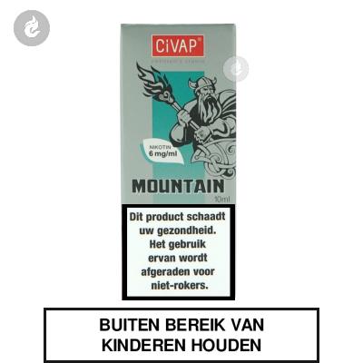 CIVAP e-Liquid Mountain+ / Sterke Menthol Nicotinevrij