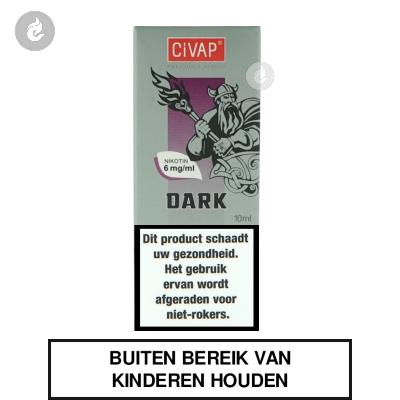 CIVAP e-Liquid Dark / Dark Tobacco Nicotinevrij
