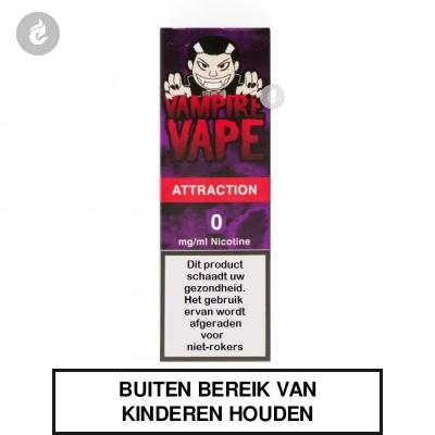 Vampire Vape Attraction 0mg nicotinevrij