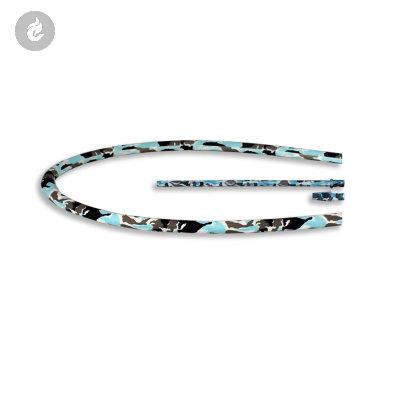 Siliconen Hookah Slang Set Compleet Camouflage Blauw 150cm
