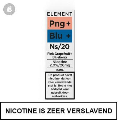 Element Nic Salts Pink Grapefruit Blueberry Ns/20mg Nicotine 10ml