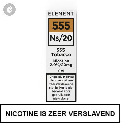 Element Nic Salts 555 Tobacco Ns/20mg Nicotine 10ml