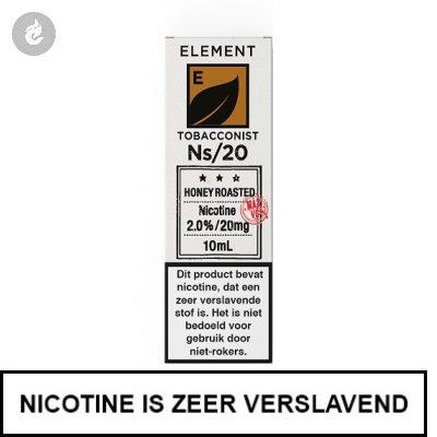 Element Nic Salts Honey Roasted Tobacco Ns/20mg Nicotine 10ml