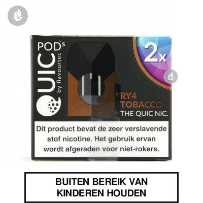 Quic PodsRY4 Tobacco 20mg (2 stuks)