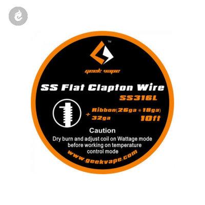 Geekvape Kanthal A1 Flat Clapton Wire Ribbon 26GAX18GA+32GA (10ft)