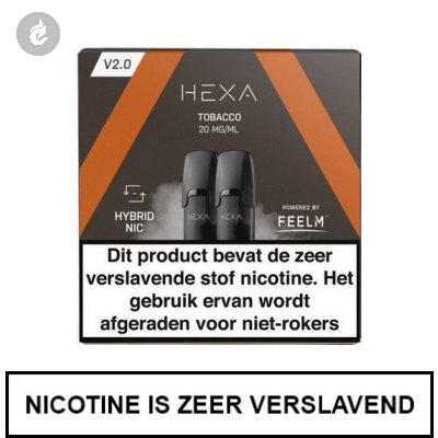 HEXA 2.0 PODS Tobacco 20mg (2 stuks)