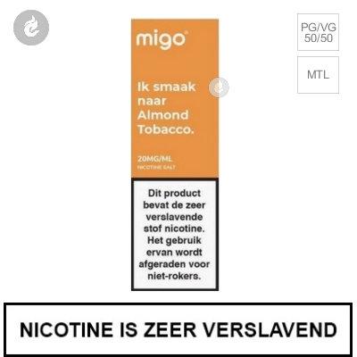 Migo Nic Salts Almond Tobacco 10mg Nicotine 10ml