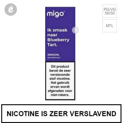 Migo Nic Salts Blueberry Tart 20mg Nicotine 10ml