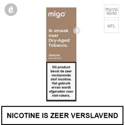 Migo Nic Salts Dry Aged Tobacco 10mg Nicotine 10ml
