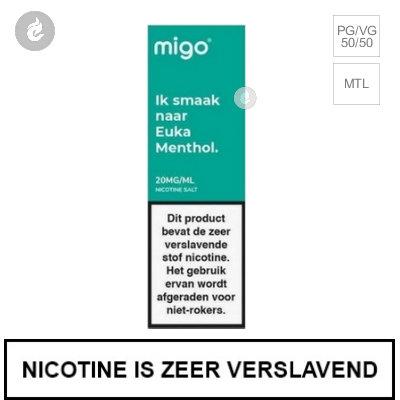 Migo Nic Salts Euka Menthol 10mg Nicotine 10ml