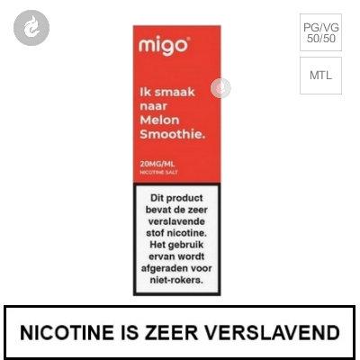 Migo Nic Salts Melon Smoothie 10mg Nicotine 10ml