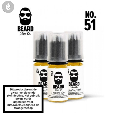 Beard Vape NO.51 - 3mg Nicotine