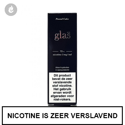 Glas - Pound Cake e-Liquid 3mg nicotine