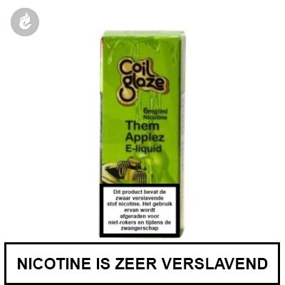 Coil Glaze Them Applez e-Liquid 6mg nicotine