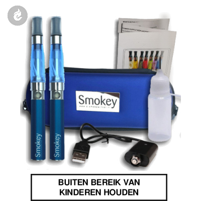 EGO Smokey CE4 kit DUBBEL (blauw)