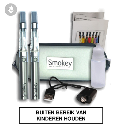 EGO Smokey CE4 kit DUBBEL (chroom)