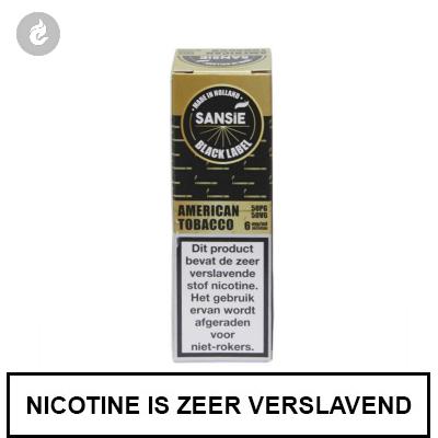 Sansie Vape Black Label American Tobacco 18mg Nicotine
