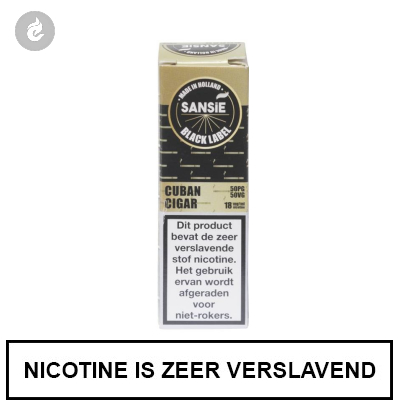 Sansie Vape Black Label Cuban Cigar 6mg Nicotine
