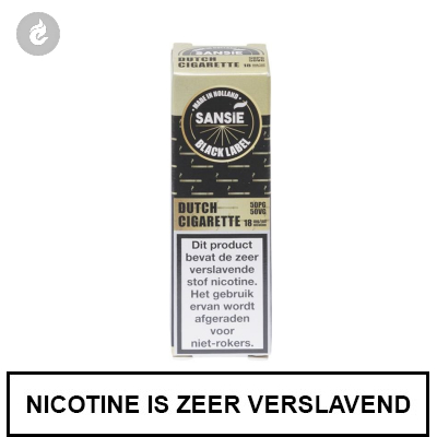 Sansie Vape Black Label Dutch Cigarette 18mg Nicotine