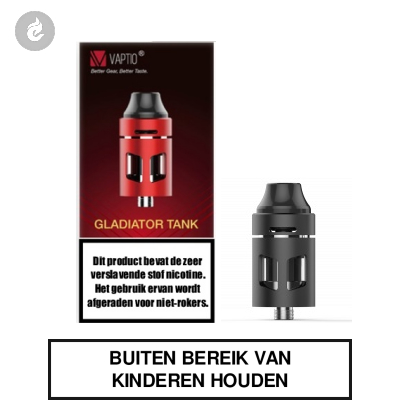 Vaptio PIII Gladiator Clearomizer 2ml Zwart