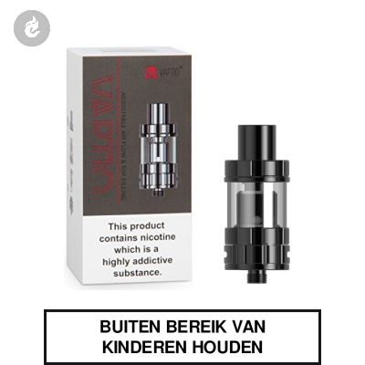 Vaptio PI TF Clearomizer 2ml Zwart