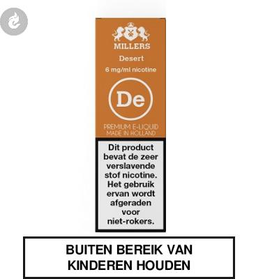 MILLERS JUICE SILVERLINE DESERT nicotinevrij