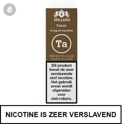 MILLERS JUICE SILVERLINE TABAK 18mg nicotine