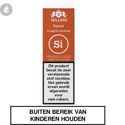 MILLERS JUICE SILVERLINE SIGAAR nicotinevrij