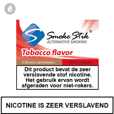 SmokeStik Cartridges Regular Tabak Bruin 18mg Nicotine