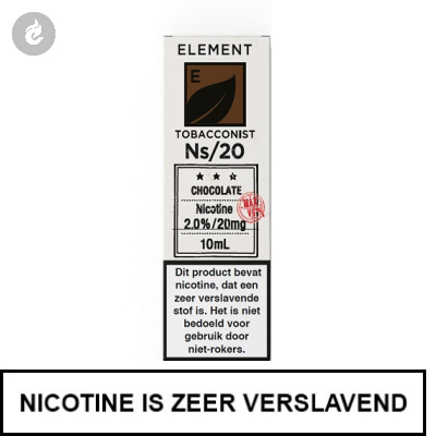 Element Nic Salts Chocolate Tobacco Ns/20mg Nicotine 10ml