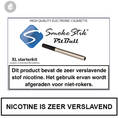 SmokeStik Pitbull XL Starterset RVS (dubbel)