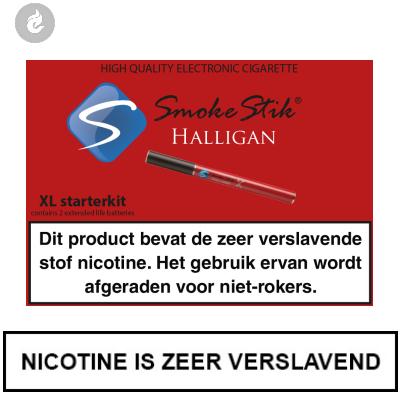 SmokeStik Halligan XL Starterset Rood (dubbel)