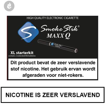 SmokeStik Maxx Q XL Starterset Zwart (dubbel)